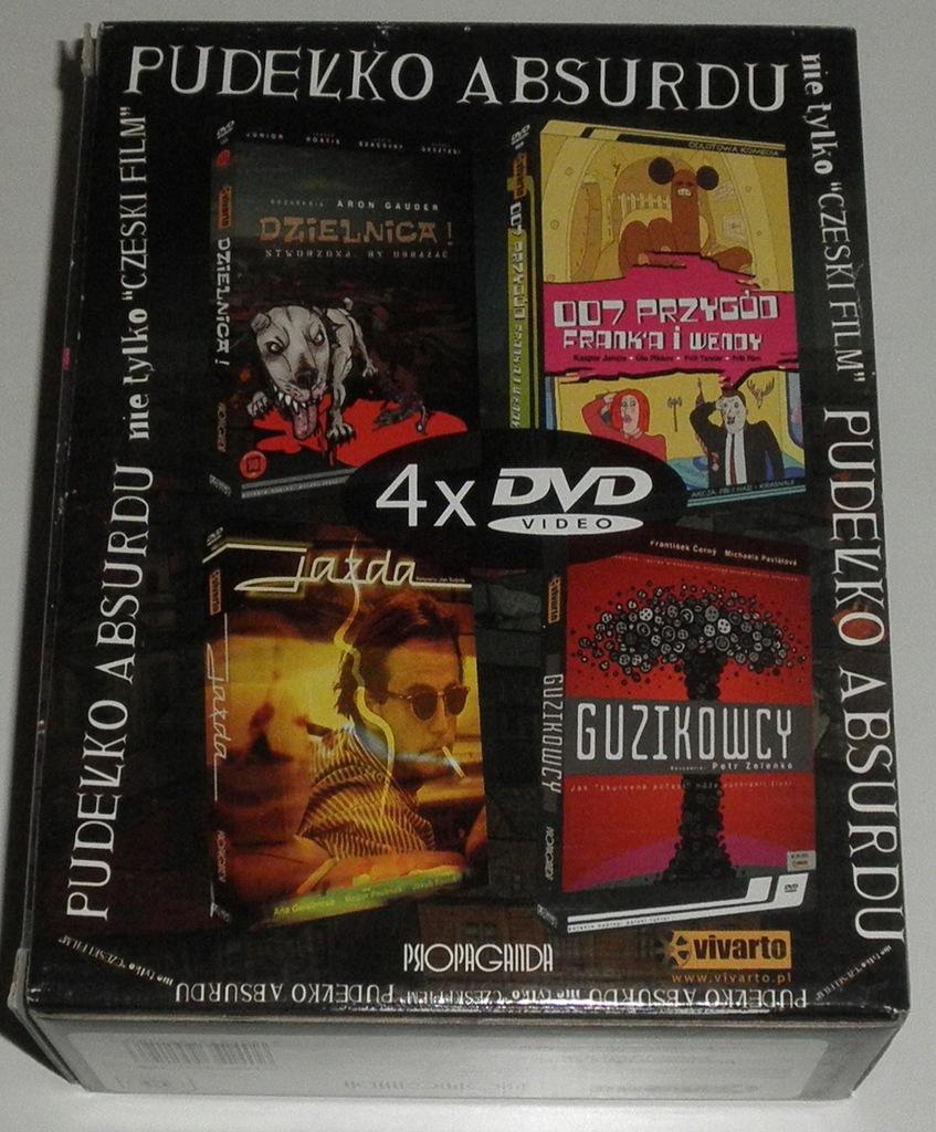 BOX 4 DVD PUDEŁKO ABSURDU DZIELNICA GUZIKOWCY