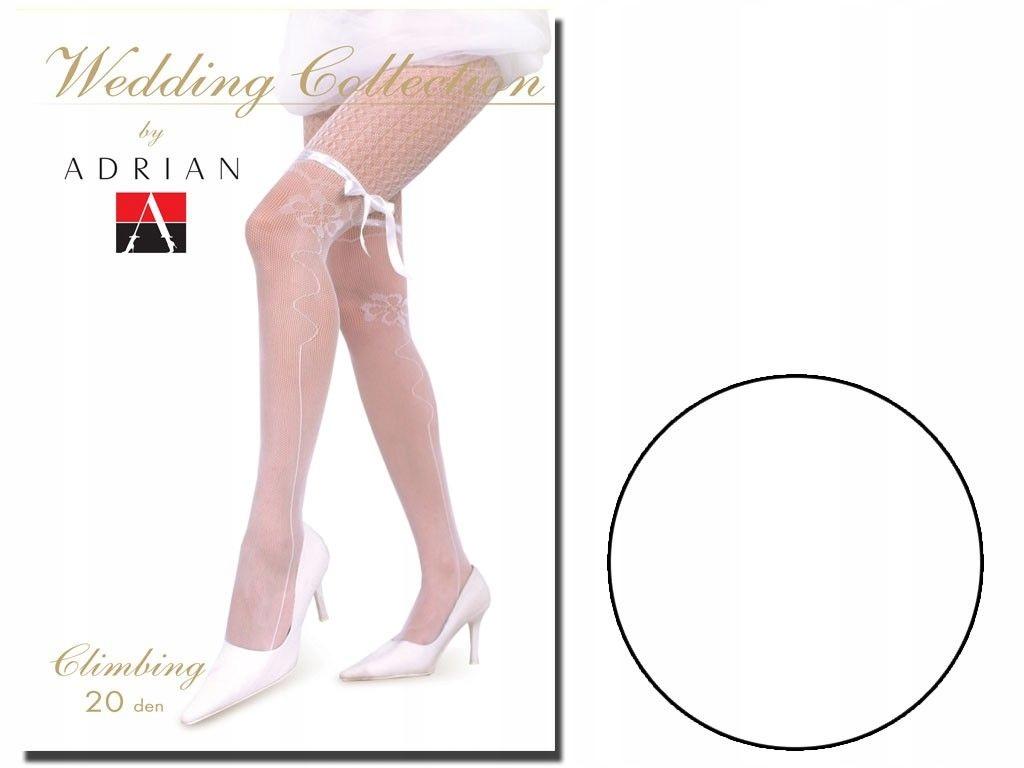 Rajstopy ślubne 20 den imitują pończochy Bianco 4