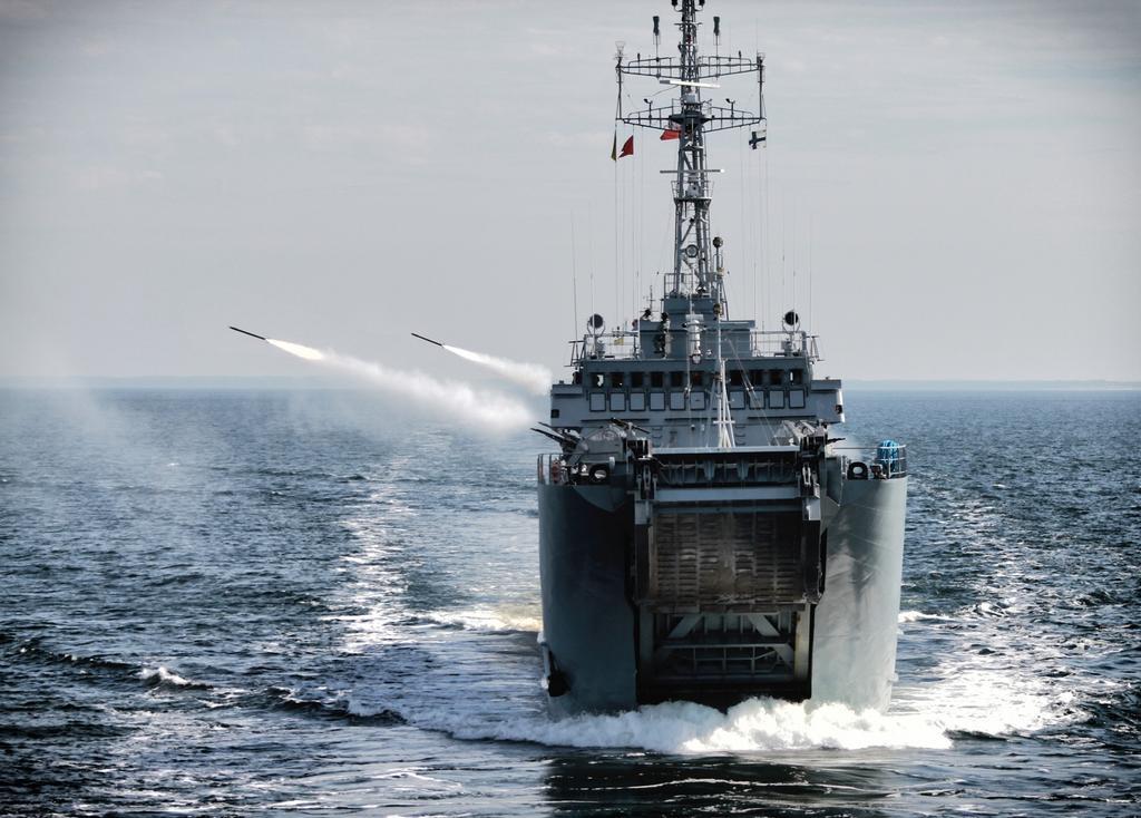 Marynarka Wojenna rejs okrętem transportowominowym