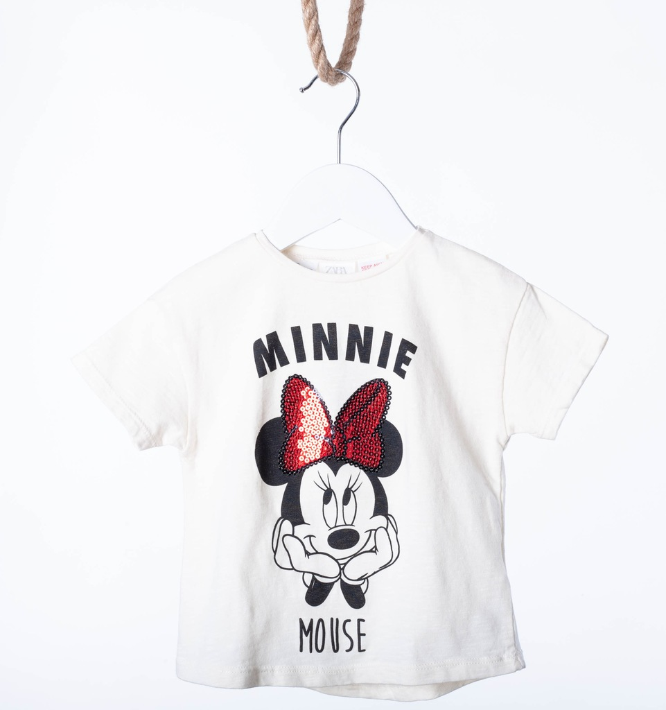Zara T-shirt kolor ecru myszka Minnie PROMOCJA