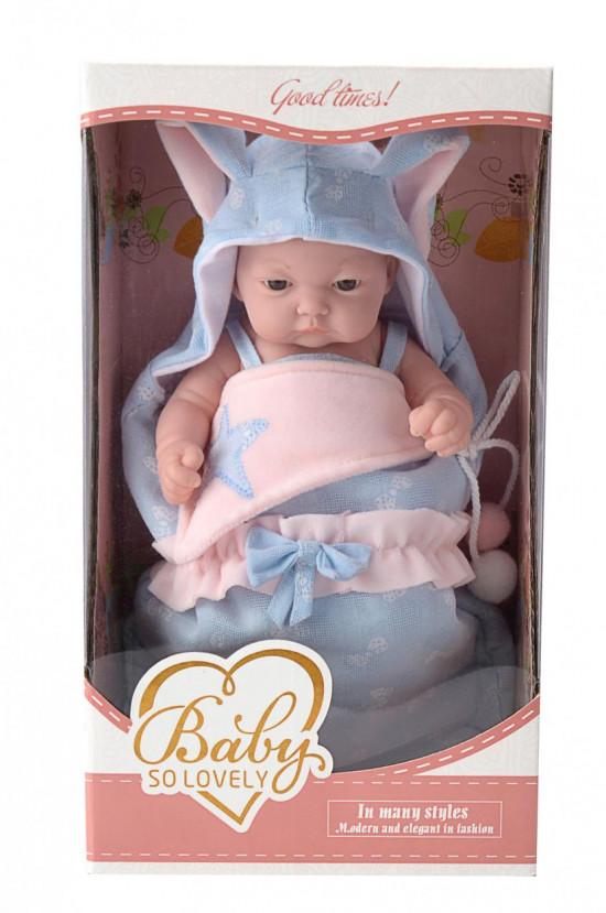 Lalka w nosidełku, niebieska