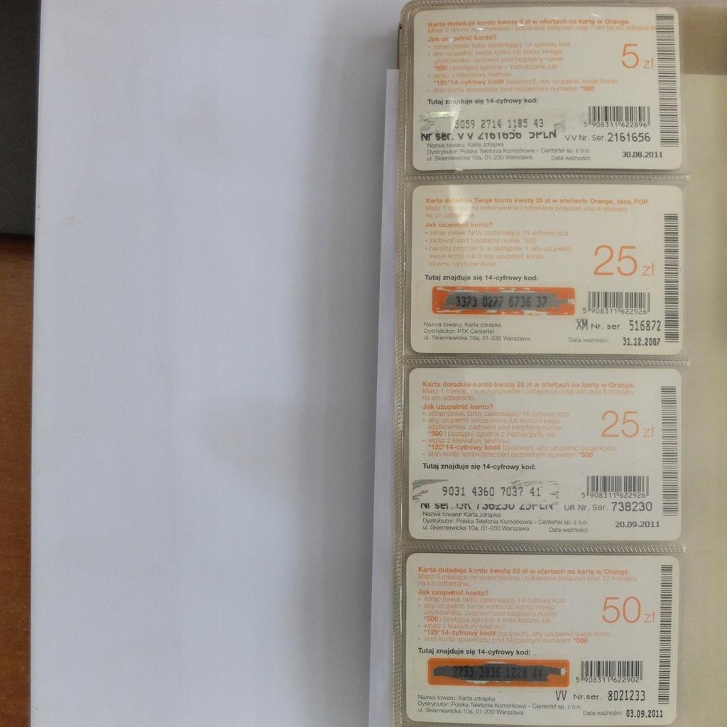 Zestaw karty telefoniczne Pre paid BCM(266M)