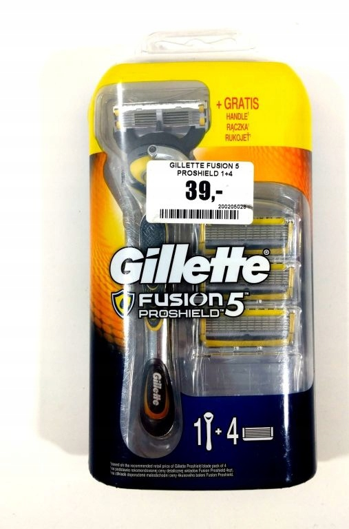 GILLETTE FUSION 5 PROSHIELD 1+4 STARTER PACK