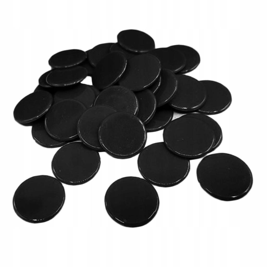 100 sztuk żetonów do pokera - czarny