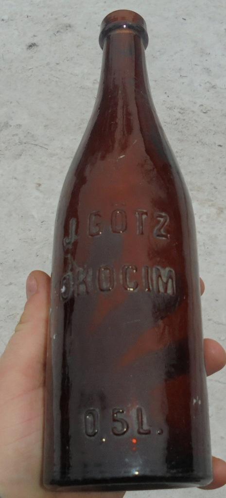 Przedwojenna butelka browar Okocim - Jabłonna