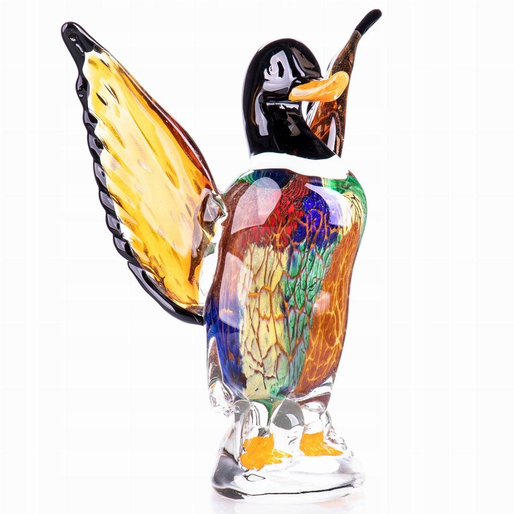 Szklana Figurka Kaczka Wielobarwna w Stylu Murano