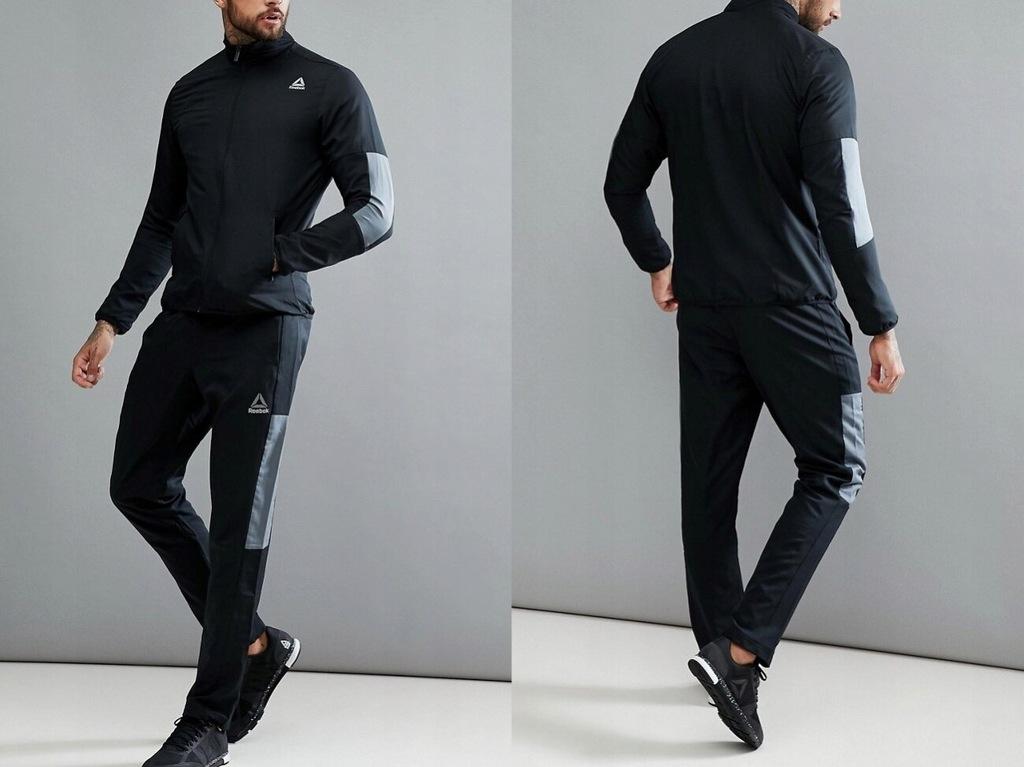 Reebok - czarne spodnie treningowe S