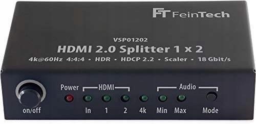 Splitter HDMI FeinTech VSP01202 czarny 1x2