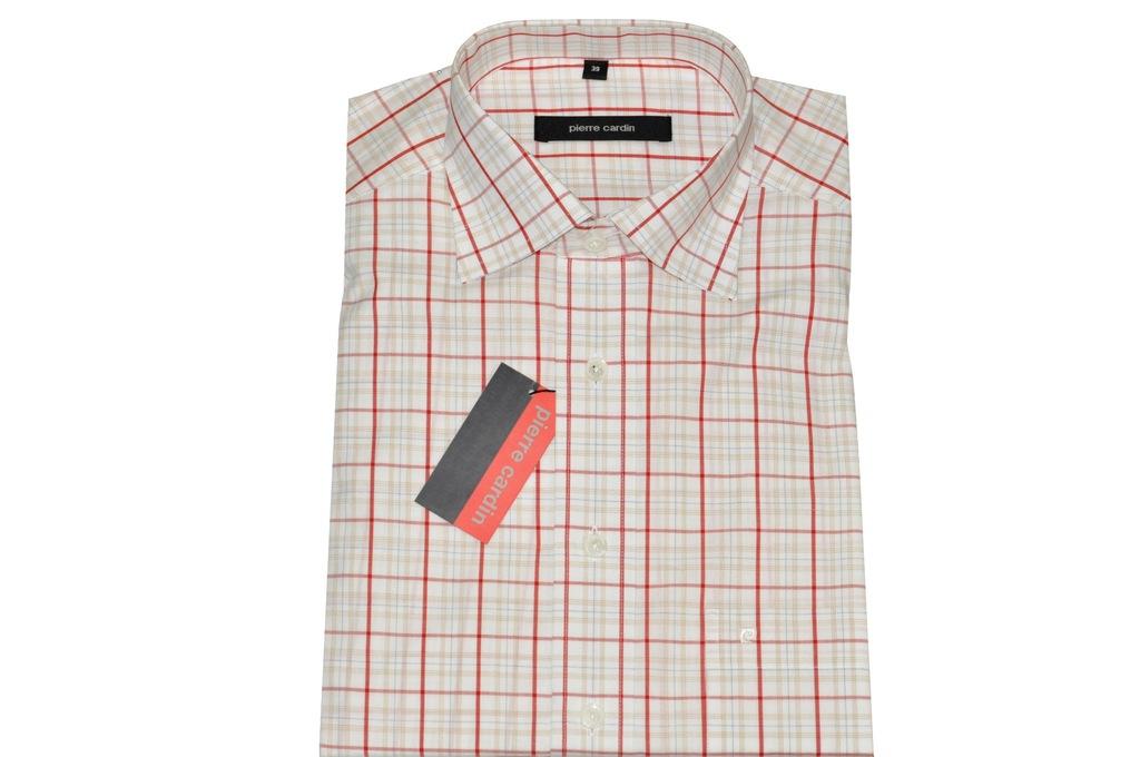 Pierre Cardin męska koszula w kratę M 39 elegancka