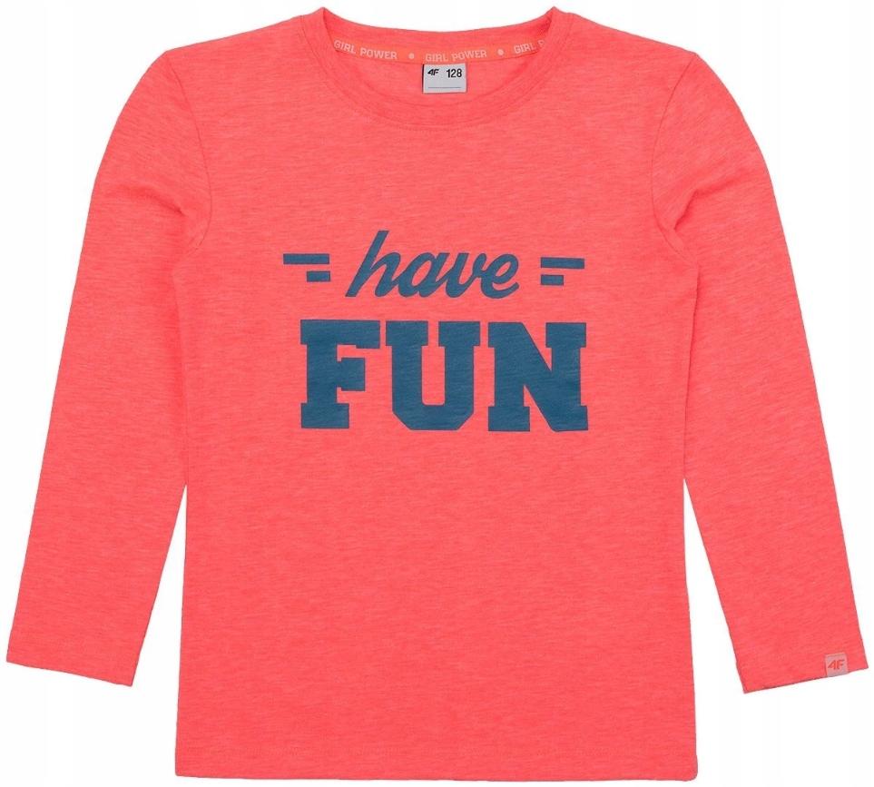 Koszulka dziecięca longsleeve KORAL 4F dziewczęca