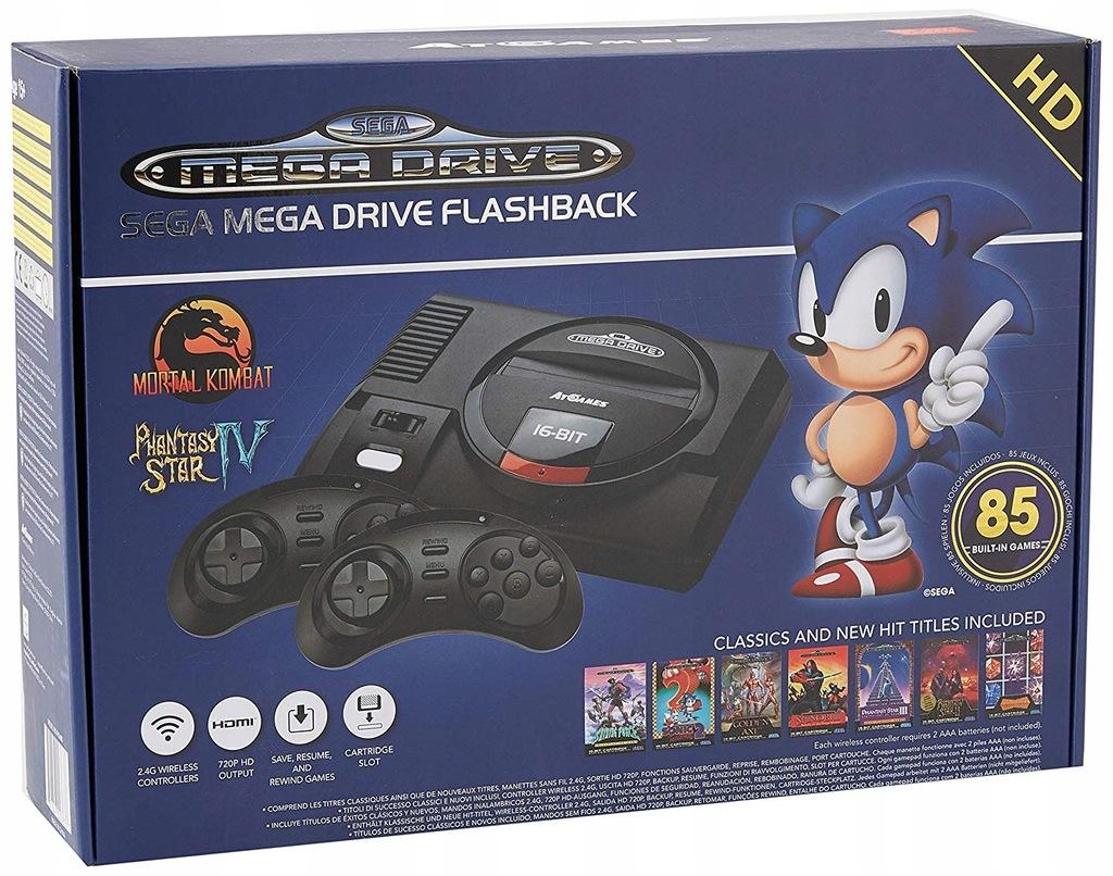 Sega Mega Drive HDMI 85gier +2 bezprzewodowe pady