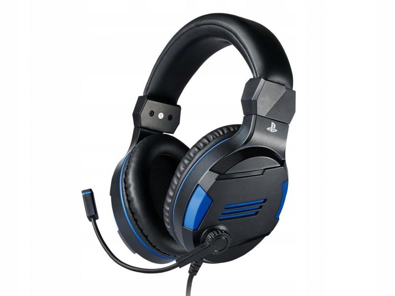 BIG BEN Słuchawki PS4 Niebieskie na licencji SONY