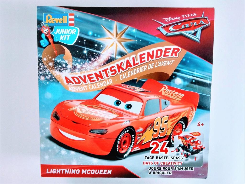 KALENDARZ ADWENTOWY duży McQueen Cars REVEL