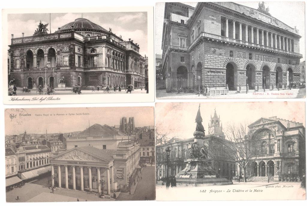 Stare pocztówki TEATR (4 szt.) 4T93