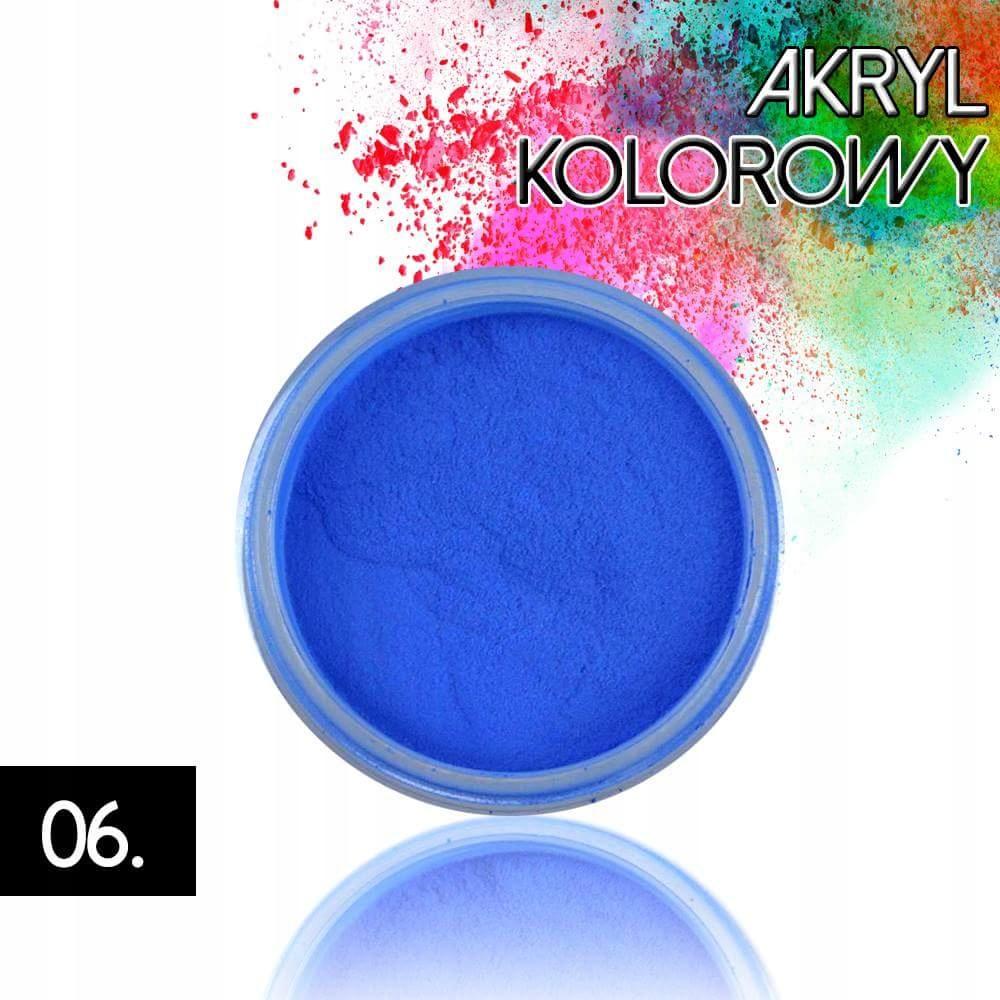Akryl 06 kolorowy proszek akrylowy 4g do zdobień