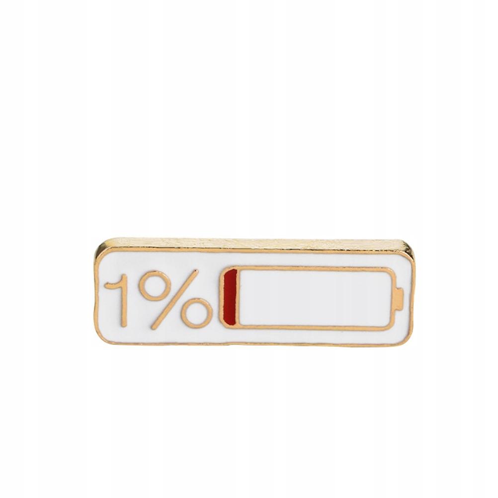 Wyłącznie 1% Bateria Broszka Emalia Szpilka Biżute