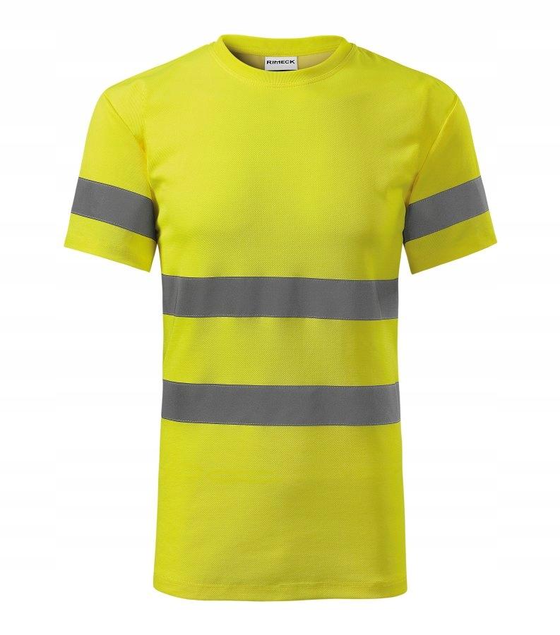 Koszulka t-shirt ostrzegawczy HV PROTECT żółta 3XL
