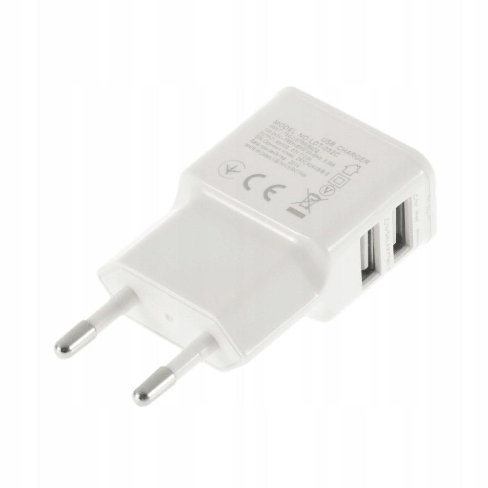 MOCNA Ładowarka Sieciowa 2 x USB 2A Uniwersalna