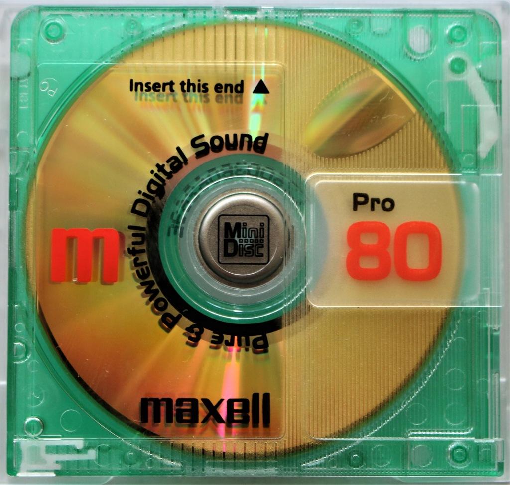 3x MINIDISC MAXELL PRO 80