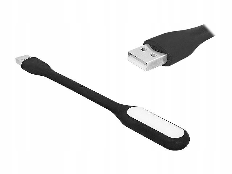Lampka komputerowa USB gumowa CZARNA