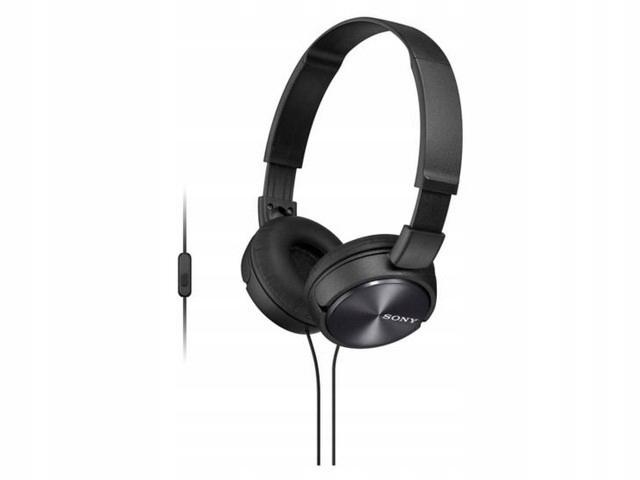 Słuchawki z mikrofonem Sony MDR-ZX310APB czarne