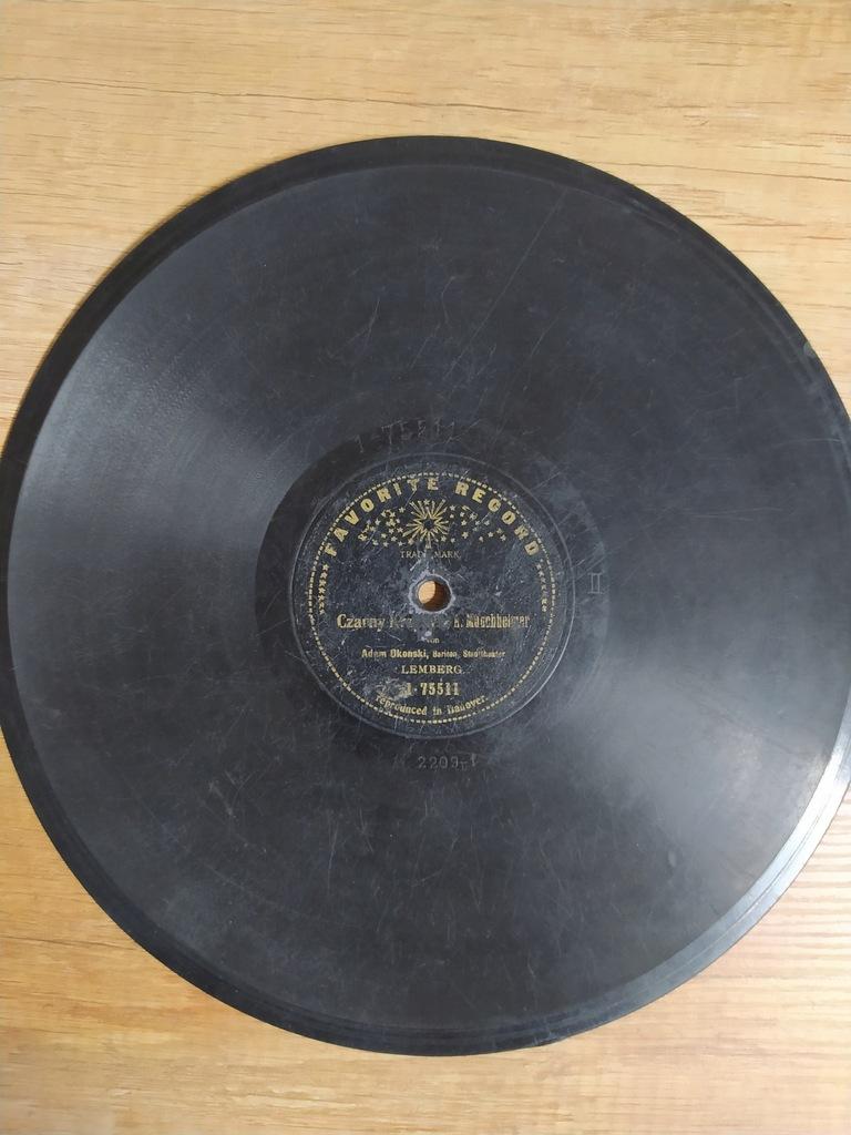 Płyta szelakowa Favorite Record Adam Okoński