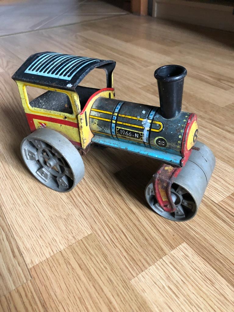 Stara zabawka, walec, metalowa, PRL, lata 70