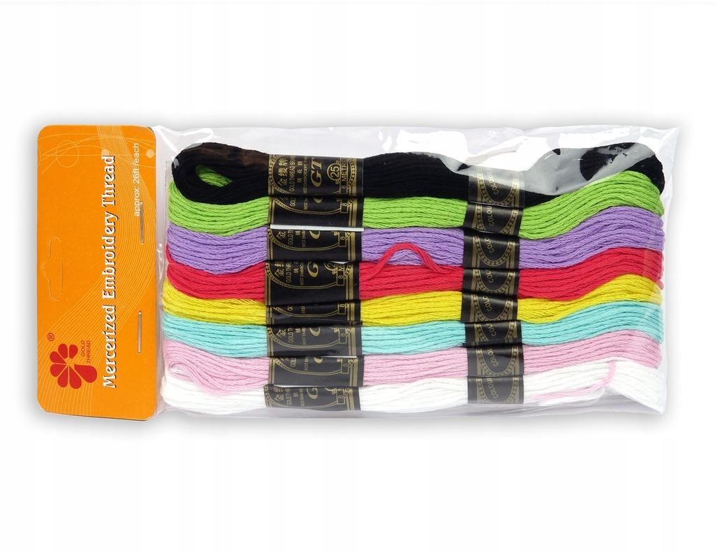 mulina nici do haftu 8m 8 sztuk kolorów