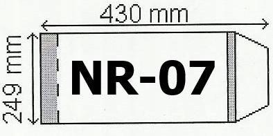Okładka na podr B5 regulowana nr 7 (25szt) NARNIA