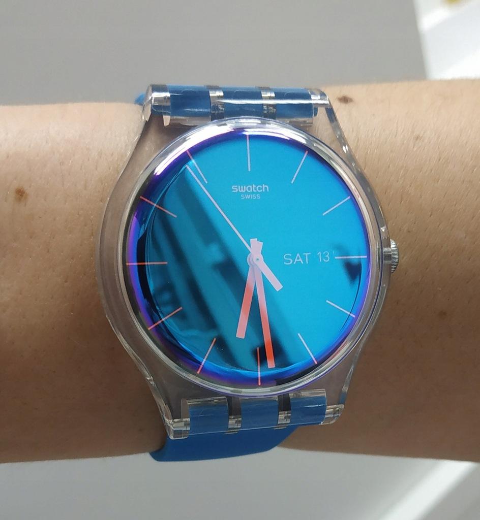 Nowy Swatch SUOK711 zegarek opalizujący gw 23mce