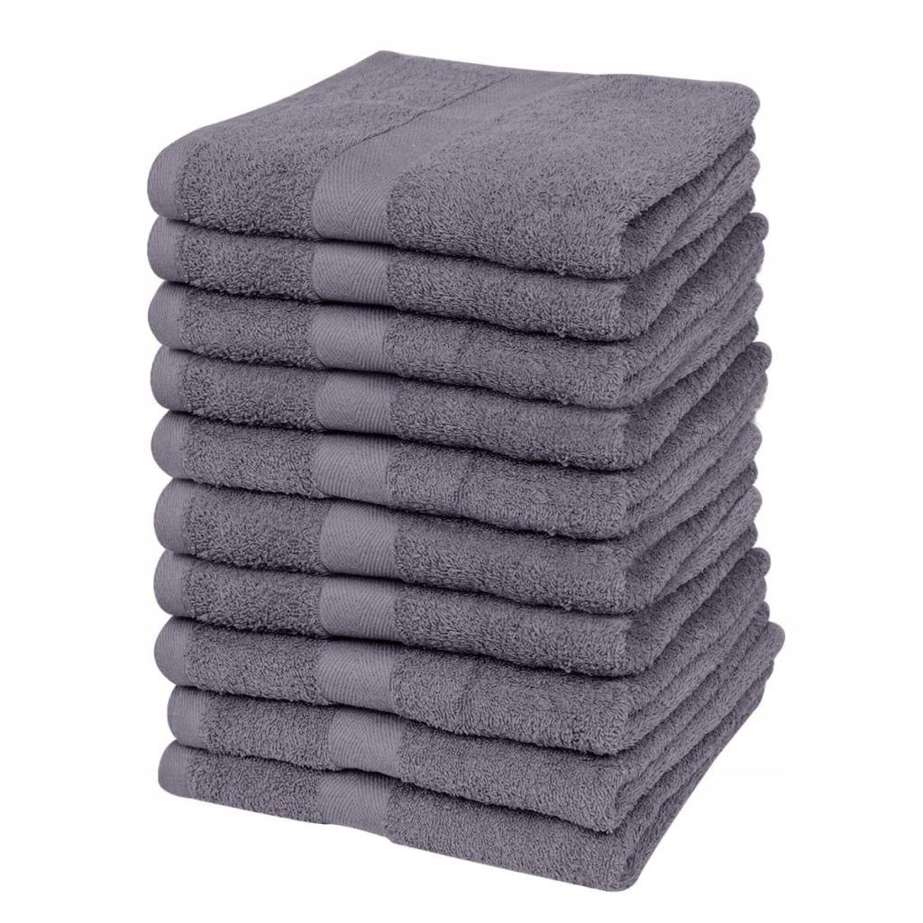 Ręczniki, 10 szt., bawełna, 500 g/m², 30x50 cm, an