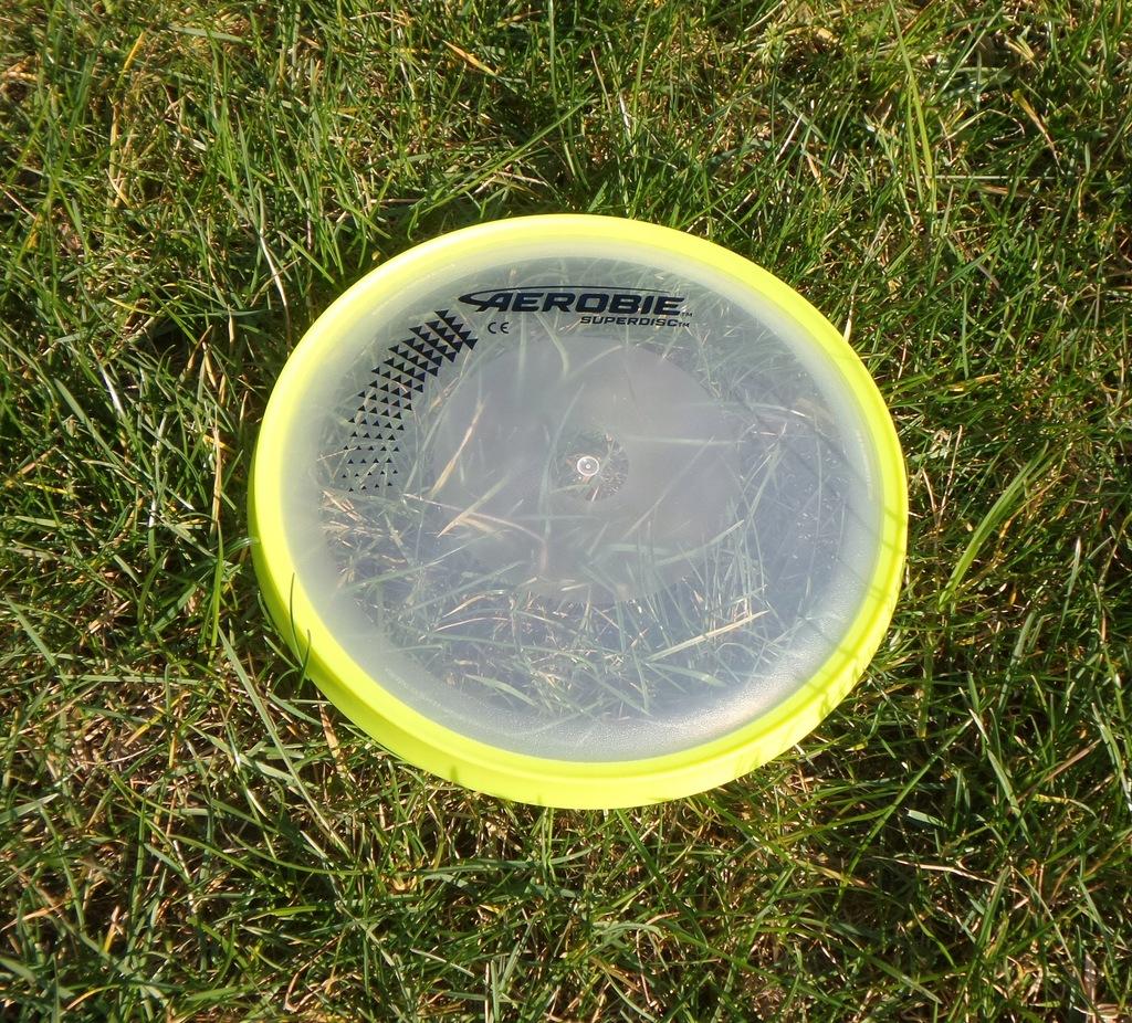 AEROBIE SUPERDISC żółty pełny dysk frisbee frisby