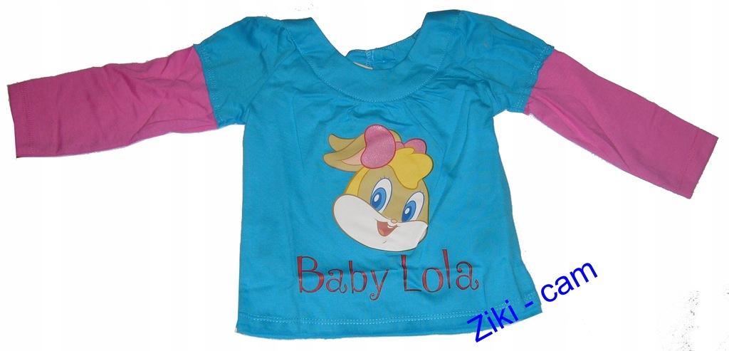 T-SHIRT DZIEWCZĘCY BABY LOLA R. 68 , TURKUS