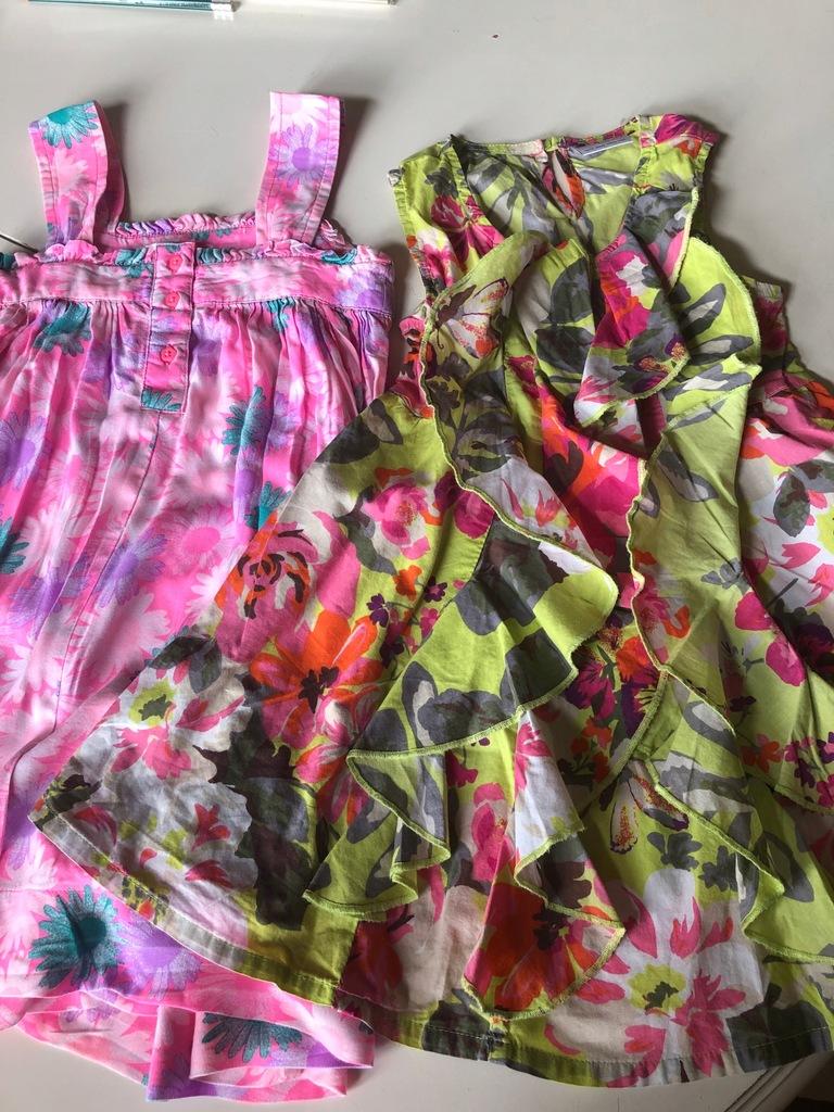 sukienka Next i George 104 4 lata kwiaty