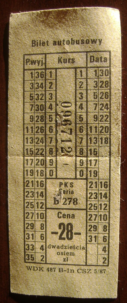 Bilet autobusowy PKS Kamień Pomorski