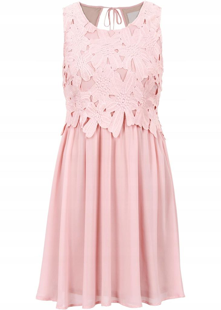 Q75 BPC Sukienka wieczorowa z koronką WESELE r.38