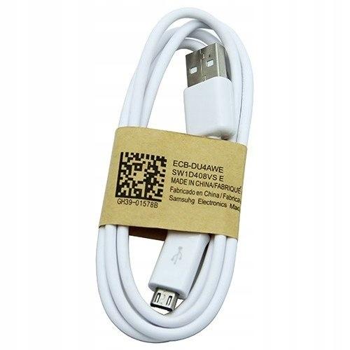 Kabel microUSB Samsung ECB-DU4AWE bulk 100 cm biał