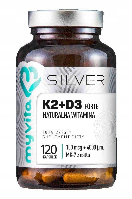 K2+D3 Forte 100mcg + 4000j.m D3 120k MyVita Silver