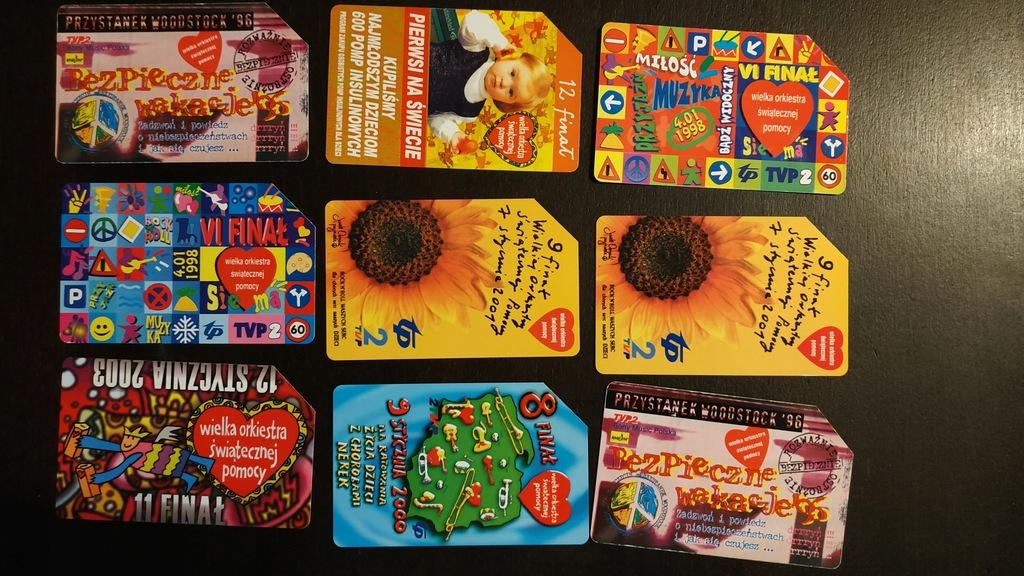 Karty telefoniczne - 9 sztuk