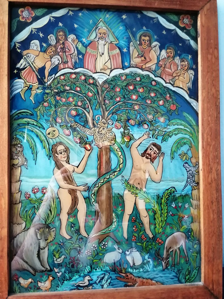 ADAM i EWA malowane na szkle (Bachleda)