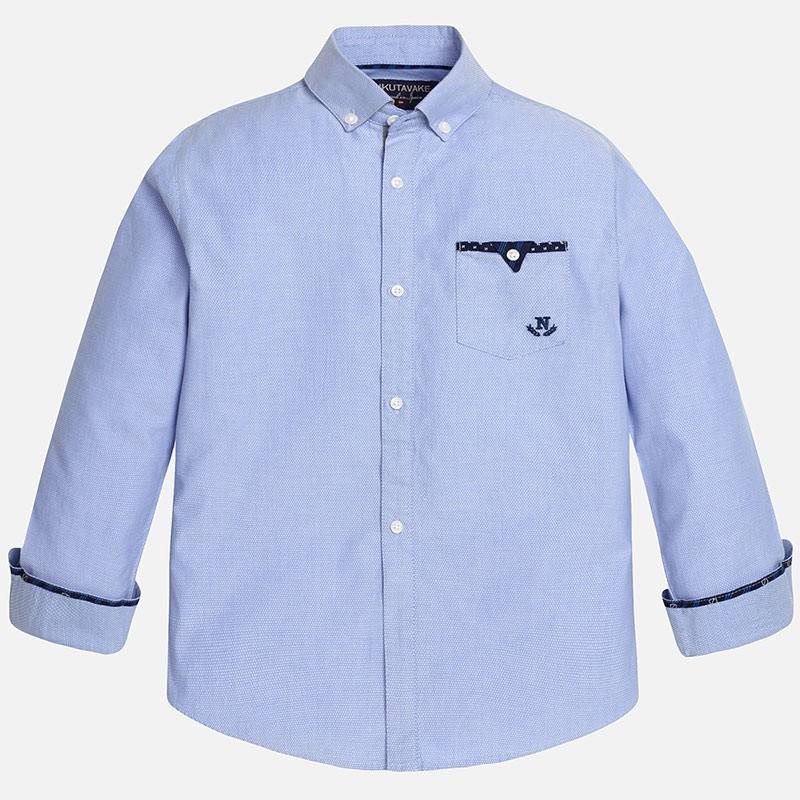 MAYORAL koszula chłopięca d/r 7128 błękit 166 cm