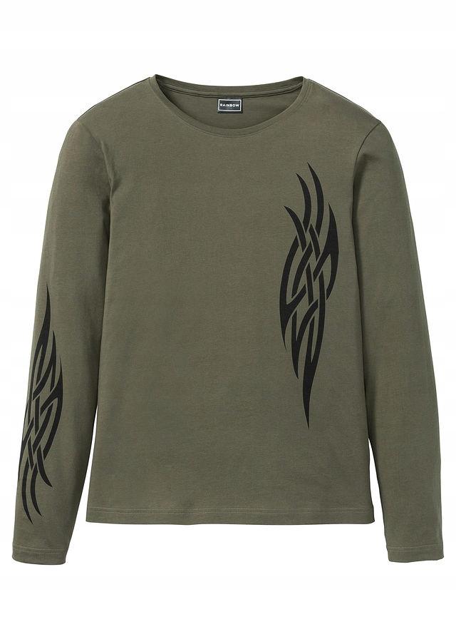 Shirt z długim rękawem zielony 56/58 (XL) 950141