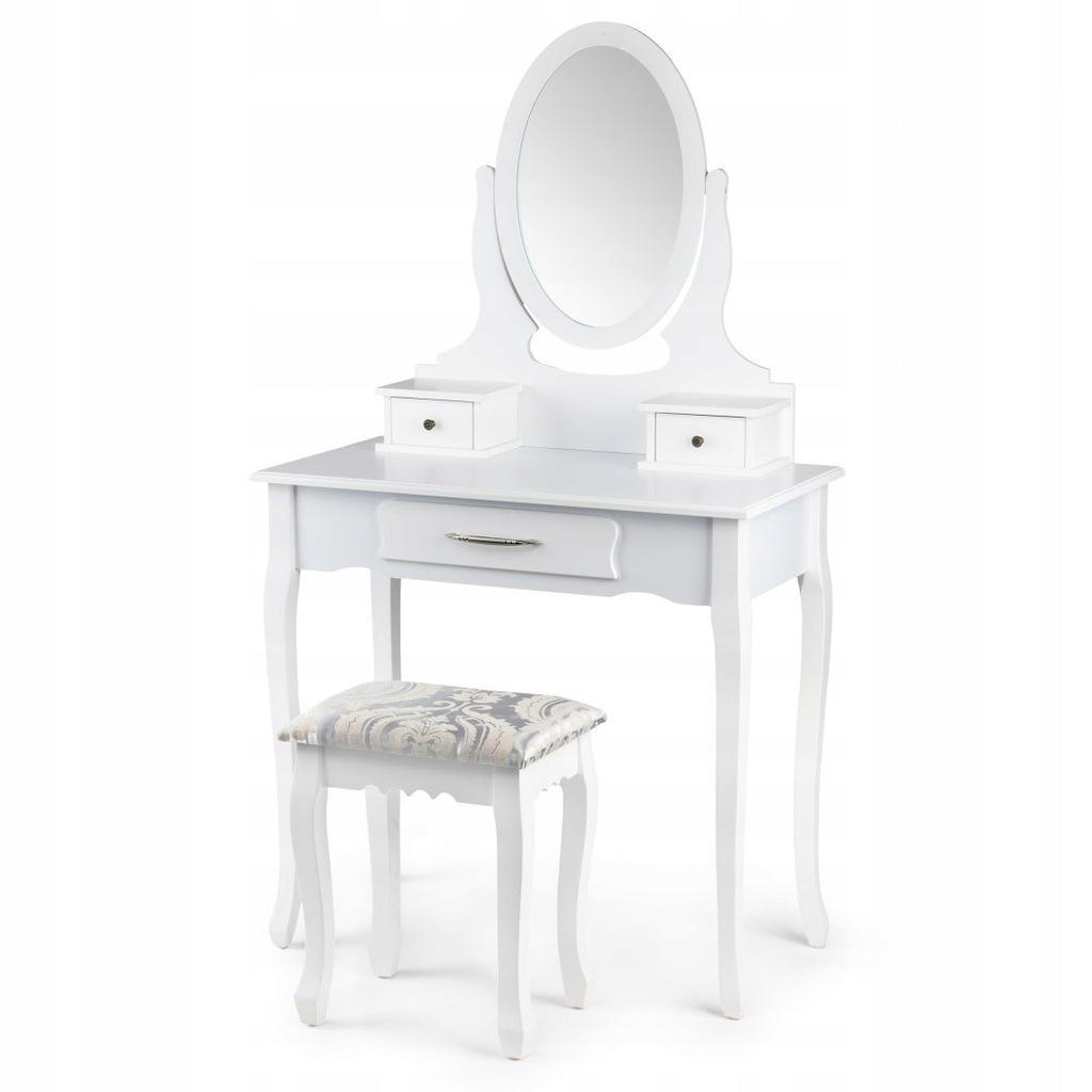 Toaletka kosmetyczna regulowane lustro + taboret