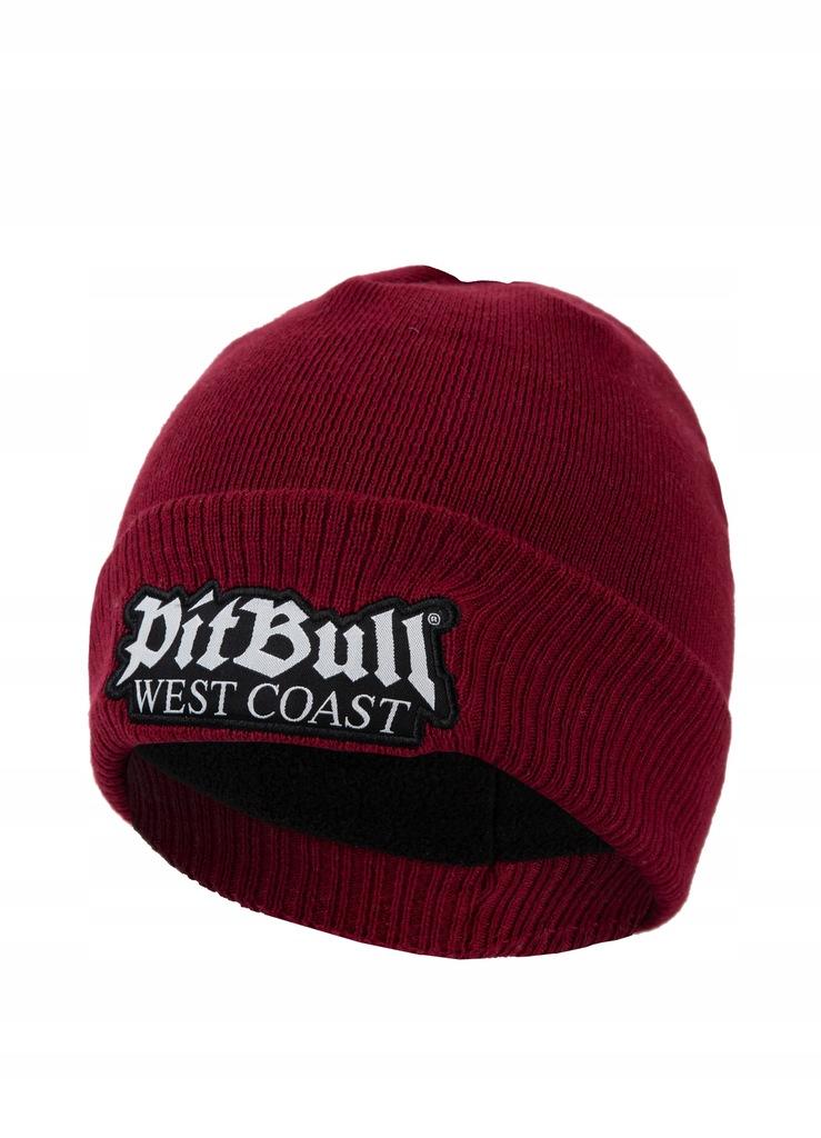 Czapka zimowa Old Logo Pit Bull bordowa