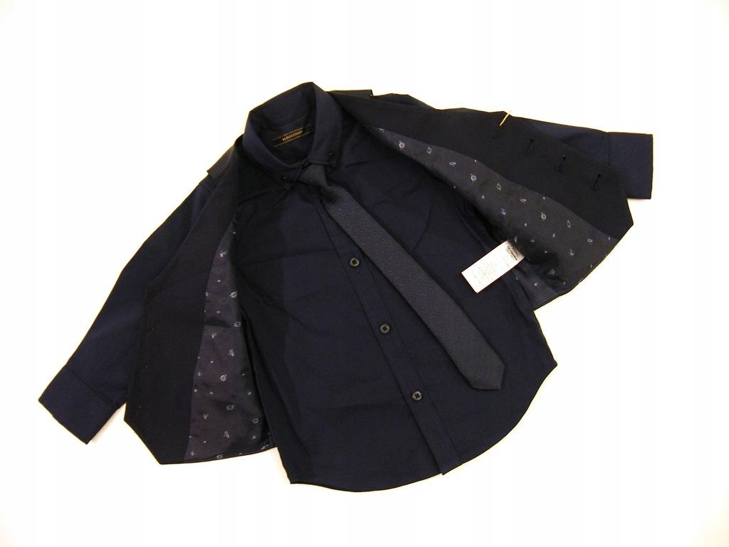 NEXT 6/19 _Komplet 86 cm: krawat koszula kamizelka