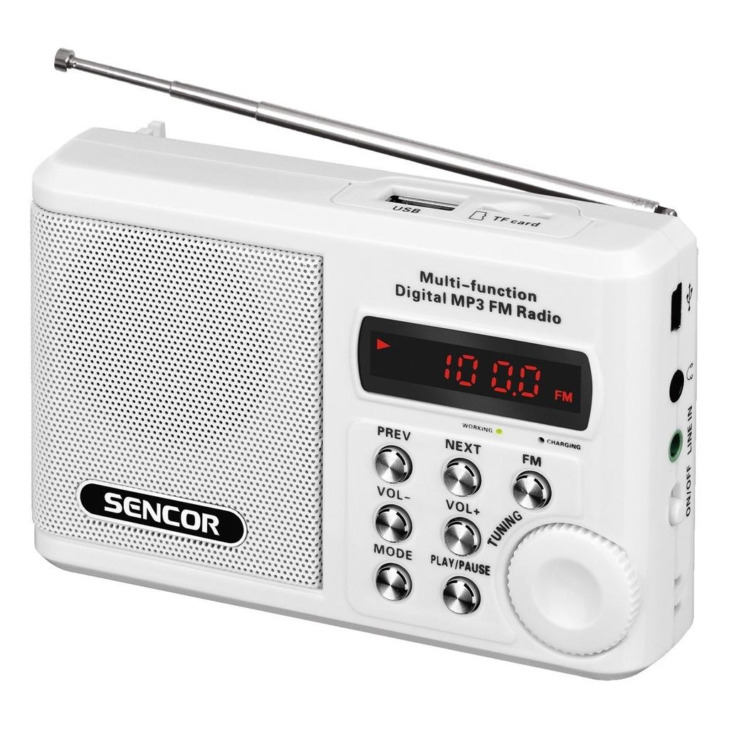 Kieszonkowy odbiornik Małe RADIO Sencor SRD 215 W
