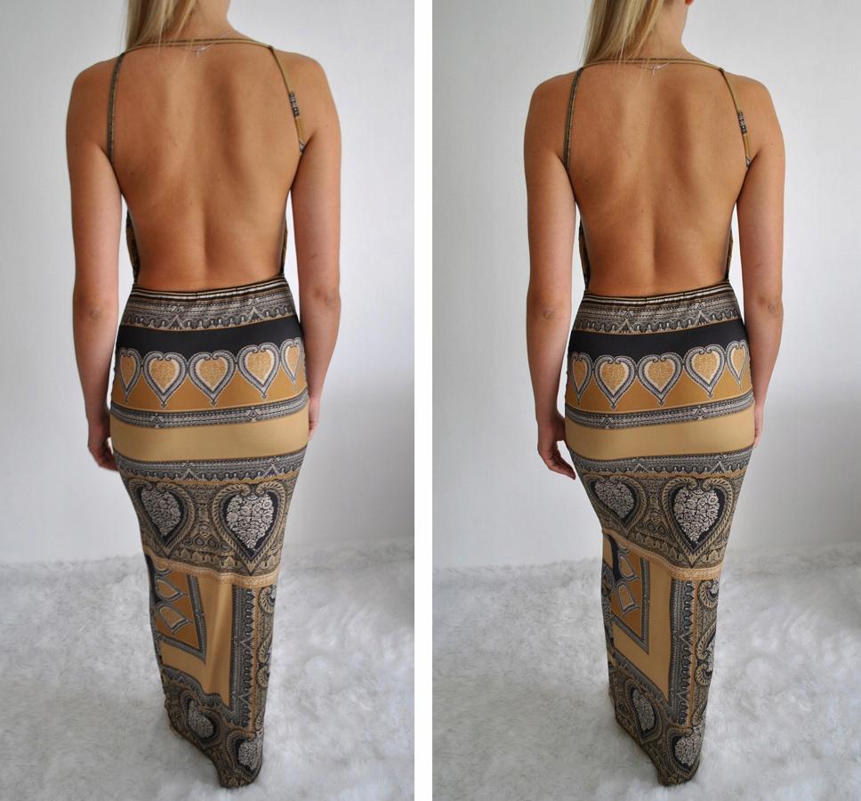 Długa bawełniana przewiewna orientalna spódnica z zapięciem