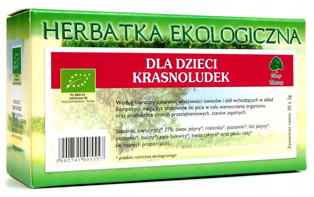 HERBATKA DLA DZIECI KRASNOLUDEK BIO (20 x 2 g) - D