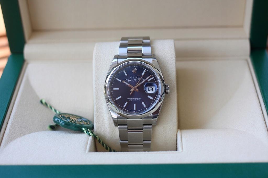 Rolex Datejust 36 - niebieski - NÓWKA!