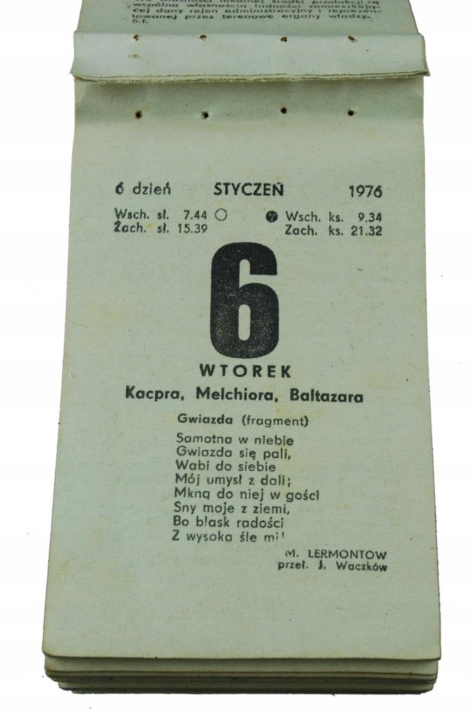 44 urodziny PREZENT kartka kalendarz zdzierak 1976